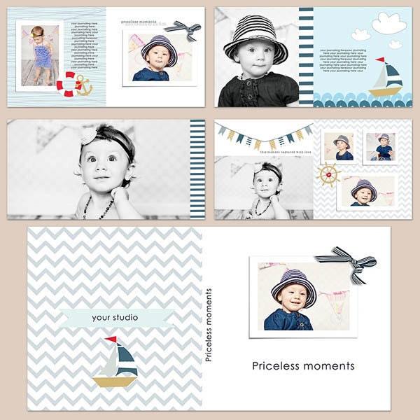 ON SALE 10x10 Album Templates Photobook Photoshop Templates