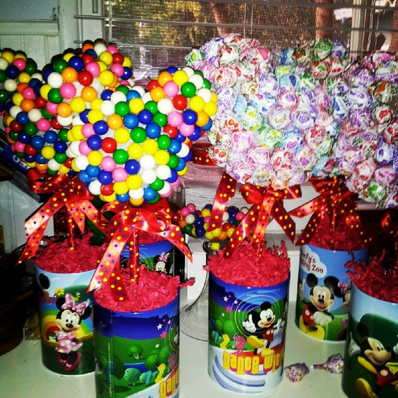 Items similar to mickey mouse themed candy topiary on etsy