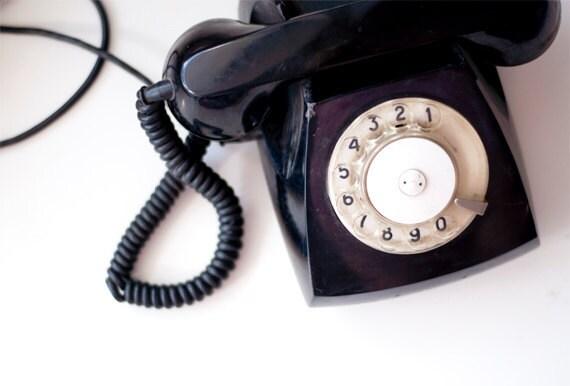 Vintage Rotary phone - Black - Vintage Home Decor - made in Soviet Union