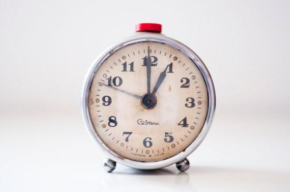 "Vintage mechanical alarm clock ""Sevani"""