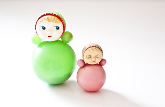 Vintage Soviet Roly Poly Dolls