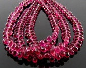4-5mm - AA Pink Tourmaline Drops Briolette 10beads