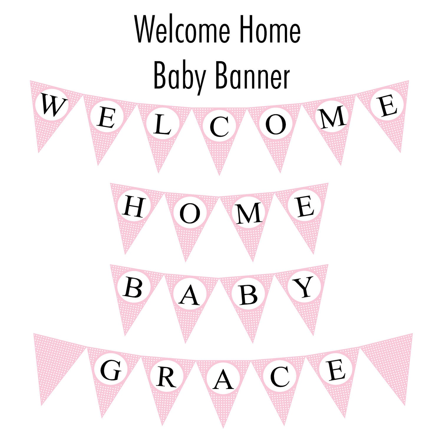 It is an image of Gorgeous Welcome Home Banner Printable