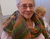 Autumn Delight Hand Knit Scarf