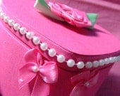 Heart-Shaped Pink Jewelry Box