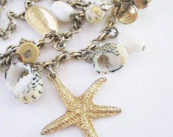 Vintage Accessocraft Shell and Starfish Necklace