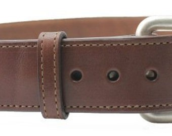 "1 1/2"" Genuine Leather Belt Solid Buckle"