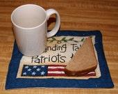 Patriotic Saying/Flag Mug Rug