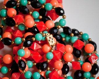 Pair of Retro Plastic Necklaces