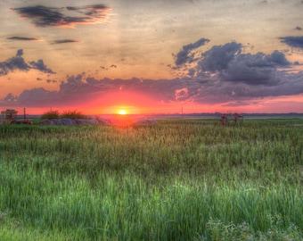 Living Skies - Saskatchewan prairies - Photographic print