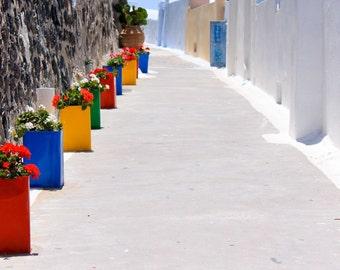 Santorini Alley - Santorini, Greece - Photographic print