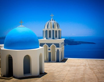 Santorini Watchtower - Santorini, Greece - Photographic print