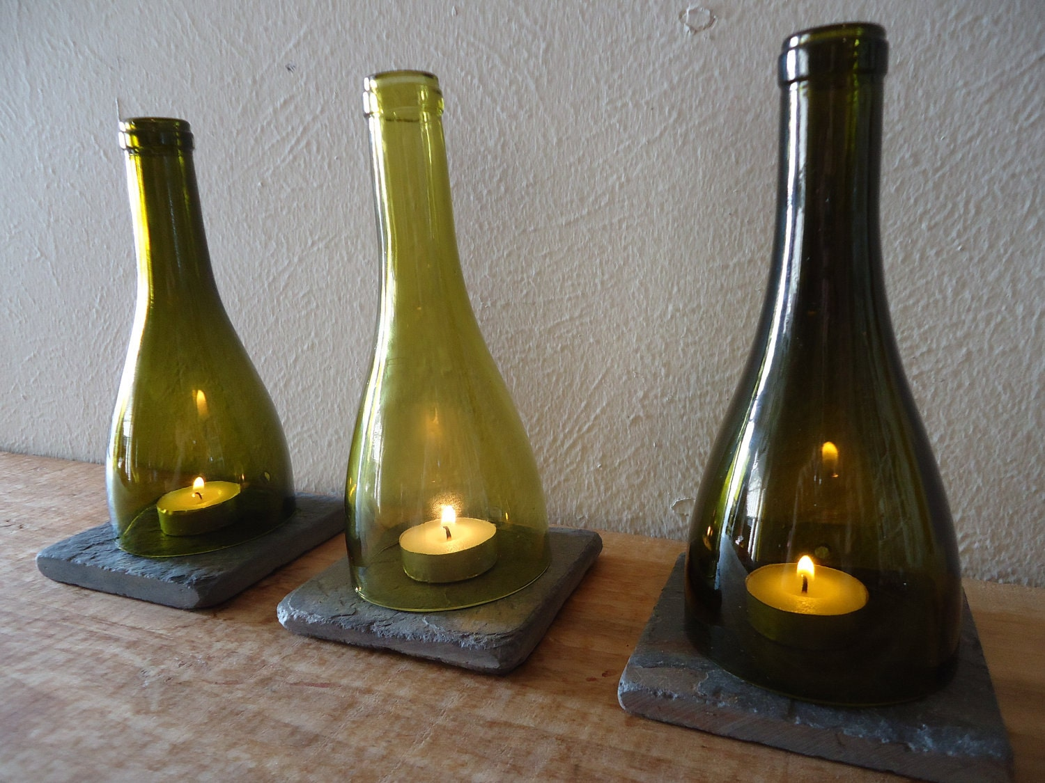 Item details for How to make candle holders out of wine bottles