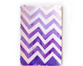 Watercolor painting-Chevron painted by watercolors