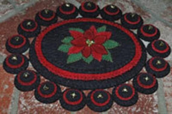 Poinsettia Penny Rug E-Pattern