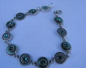 turqoise blue anklet