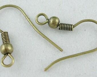 Antique Bronze Earring Hooks