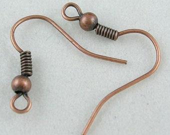 Antique Copper Earring Hooks