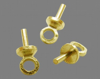 1/2OZ Gold Glue-On Bail for Half-Drilled Beads