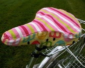 Bike Seat Cover - Popsicles & Stripes by bumcicles