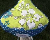 Bike Seat Covers - Hawaiian Flowers & Polkadots