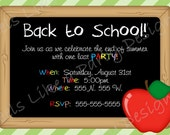 Custom Back to School Party Invite