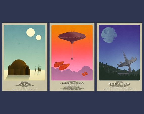 Star Wars Classic Trilogy Set- 3 Posters (two sizes)