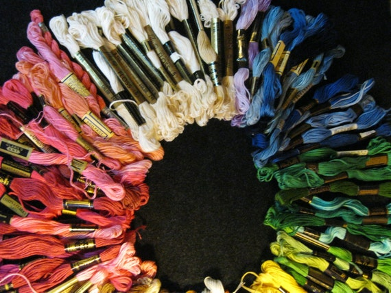 Embroidery Floss-Bulk Embroidery Floss-Rainbow thread-Multi colored thread