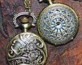 antiqued brass pocket watch