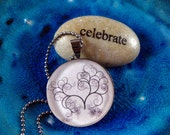 Filigree Tree of Life Pendant Tree Charm Resin Pendant Necklace Jewelry (R24)