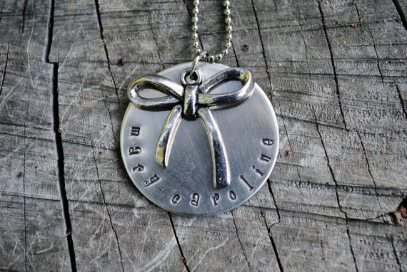 Personalized Bow Necklace