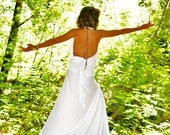 The White Goddess - Ceremonial Eco Wedding Dress (Pre-made in X-Small / Small) Made from Organic Bamboo & Cotton