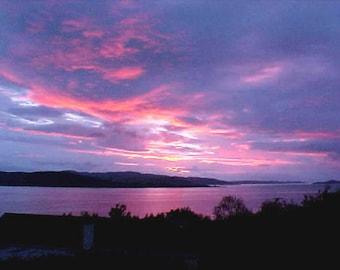Irish Sunset , Donegal, Ireland, 8 x 10 Fine Art Print