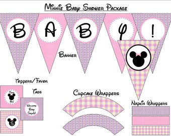 Minnie Mouse Baby Shower - Instant Download