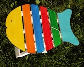 Adorable Hand Painted Fish Shaped Folding Table - luckyenoughdesigns