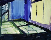 An unknown place: Interior windows in gouache on Yupo
