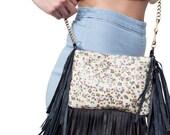 Leather Cross Body Bag Shoulder Handbag Fringe Purse - Jane