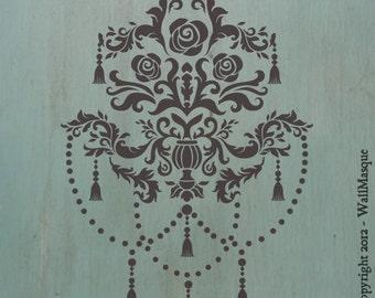 """Decorative Tassle Center Stencil - TassleCenter 12"""" x 8.3"""""""