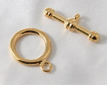 2 sets - 17mm Gold Plated Toggle Clasp