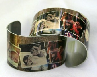 Instagram Photos Metal Cuff Bracelet
