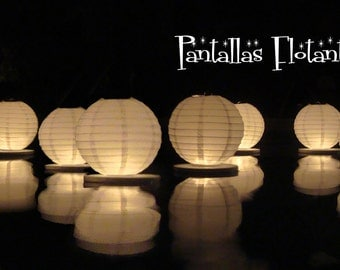 Floating paper lanterns (15 pack)