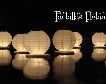 Floating paper lanterns (10 pack)