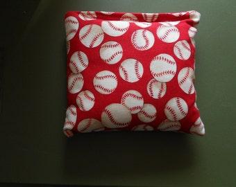 Red Baseballs  Cornhole Bags
