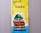 Bookmark. Gorgeous and bright , hand painted original Egbert Bookman Bookmark.