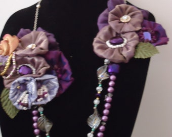 """A ooak necklace ....""""Shades of purple"""""""