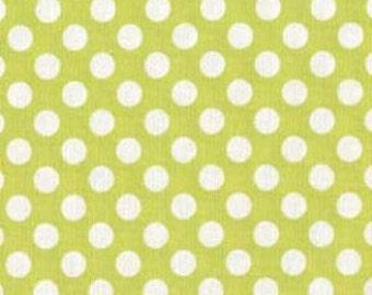 SALE! 1/4m Ta Dot Lime - Michael Miller