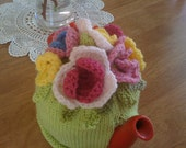 Beautiful handmade tea cosy, one of a kind and made with love