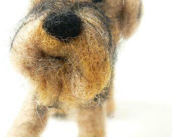 Needle felted Airedale