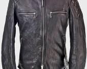 vivtage style cafe racer leather jacket
