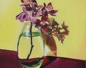 """Afternoon Orchids - 6"""" Oil Painting on hardboard panel"""